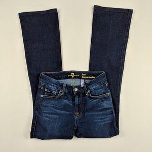 'Lexie Kimmie Bootcut' Petite Dark Wash Jeans